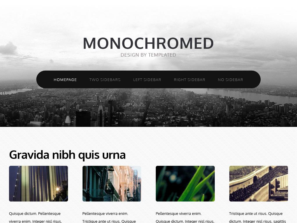 monochromed